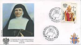 POLONIA  - FDC ROMA 1991 - VISITA DI S.S. GIOVANNI PAOLO II IN POLONIA - BIALYSTOK - ANNULLO SPECIALE - FDC