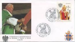POLONIA  - FDC ROMA 1991 - VISITA DI S.S. GIOVANNI PAOLO II IN POLONIA - PLOCK - ANNULLO SPECIALE - FDC