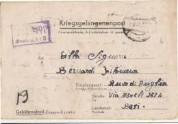 33-1944 LETTERA DA PRIGIONIERO Da GERMANIA STAMMLAG XI B Scritta Da Italiano ARBEIT.Kolo 6233 - Poststempel