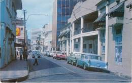 Managua Nicaragua, Roosevelt Avenue Street Scene, Shell Gas Station, Auto, C1950s/60s Vintage Postcard - Nicaragua
