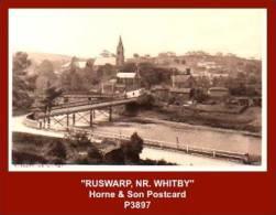 "P3897  ""RUSWARP, NR. WHITBY""  (1910's. B/w Photogravure Postcard) - England"