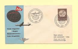 1er Vol - Stockholm Los Angeles - Via Greenland - 15-11-1954 - Aéreo