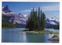Carte Postale CANADIAN ROCKIES SPIRIT ISLAND IN MALIGNE LAKE IN JASPER NATIONAL PARK CANADA LAC FORET ROCHEUSES - Jasper