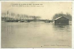 77,Seine Et Marne, BRAY-Sur-SEINE, Inondation De La Vallée De Bray,24 Janvier 1910, La Crue Atteint 3m, Scan Recto-Verso - Bray Sur Seine