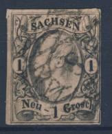 Sachsen Michel No. 9 Gestempelt Used / Nummerngitterstempel 8 - Saxe