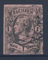 Sachsen Michel No. 9 gestempelt used / Nummerngitterstempel 8