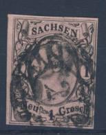 Sachsen Michel No. 9 gestempelt used / Nummerngitterstempel 2