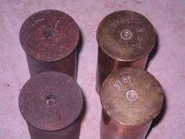 Lot De 4 Douilles Françaises De 37mm Datées 16 Et 17 - 1914-18