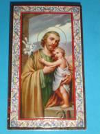 N° 27 - S.GIUSEPPE Falegname - Santino Cornice ORO - F.lli Bonella -  FB - Serie 734-I.G. - Images Religieuses