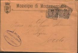 TONDORIQUADRATO DI MONTEMARCIANO ( ANCONA ) 1909 - 1900-44 Vittorio Emanuele III
