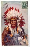 """E 923 - Chef Black Thunder """"EDIT  Raphael Tuck  & Sons' - Indiens De L'Amerique Du Nord"""