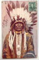 E 924- Chief Charging Bear   *Raphael Tuck - Postcard N° 2171* - Indiens De L'Amerique Du Nord