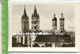 NAUMBURG /Saale). 1930/1940,  Sammelbild 9 X 6,5 Cm,  Der Dom (West) - Lieux