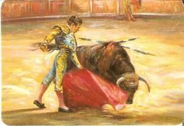 CALENDARIO DEL AÑO 1997 DE UN TORERO Y UN TORO (BULL) (CALENDRIER-CALENDAR) - Calendarios