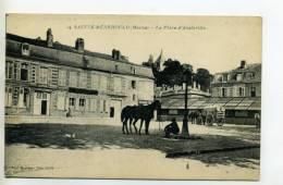 51 STE SAINTE MENEHOULD Cavalier Et Son Cheval Place Austerlitz 1919 Ecrite    /D15-2012 - Sainte-Menehould