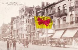 LA PANNE - Avenue De La Mer -  Superbe Carte Animée - De Panne