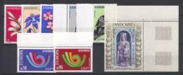 Andorra 1973 Annata Completa / Complete Year Set **/MNH VF - French Andorra