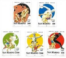 1996 - San Marino 1483/87 Olimpiadi Di Atlanta - Salto