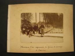 Photo -ref 05 -photos Recto Verso -support Cartonné -louviers -eure -couvent Ste Barbe Et Militaires Militaria - - Lieux