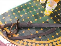 Sabre Troupe Cavalerie Légère 1882 Peint Bleu Horizon épé French Sabber Ligh Cavalry Poilu Tranchée Casque Helmet Trench - Messen