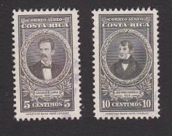 Costa Rica, Scott # C179, C180, Used, Lara, Fernandez, Issued 1948 - Costa Rica
