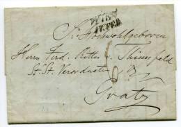 Altbrief  Vorphila WIEN 17. Feb. 1848 Nach GRAZ GRATZ 18. Feb. 1848 (029) - ...-1850 Vorphilatelie