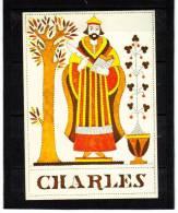 Prénom Charles, Couleur Rouge, Plante Le Saule, Animal éléphant  éditions BETULA - Nombres