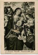 San Severino Marche - Santino Cartolina Antica MADONNA DELLA PACE (Pinturicchio) Anni '50 - E41 - Religione & Esoterismo