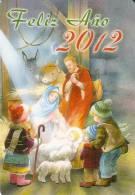 CALENDARIO DEL AÑO 2012 DE UN NACIMIENTO (NAVIDAD-CHRISTMAS) (CALENDRIER-CALENDAR) - Calendarios