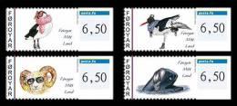 Faroe 2012 - Franking Labels 2012 Set Mnh - ATM - Frama (vignetten)