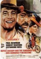 CALENDARIO DEL AÑO 1991 DE LA PELICULA 2 HOMBRES Y UN DESTINO DE PAUL NEWMAN Y ROBERT REDFORD (CALENDRIER-CALENDAR) - Tamaño Pequeño : 1991-00