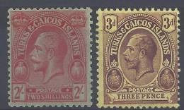 TURQUES ET CAIQUES  -  1923/25  -  N°  100  ET  101  -  X  - TB  - - Turks & Caicos (I. Turques Et Caïques)
