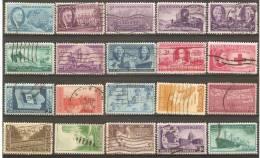 20 Timbres Anciens Des Etats-Unis - Central America