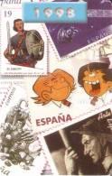 CALENDARIO DEL AÑO 1998 CON UNOS SELLOS DE CORREOS (STAMP) (CALENDRIER-CALENDAR) - Calendarios