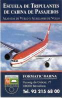 CALENDARIO DEL AÑO 1998-1999 DE ESCUELA DE TRIPULANTES DE CABINA Y PASAJEROS (AVION-PLANE)  (CALENDRIER-CALENDAR) - Tamaño Pequeño : 1991-00