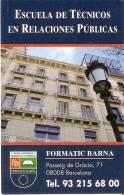 CALENDARIO DEL AÑO 1998-1999 DE ESCUELA DE TECNICOS EN RELACIONES PUBLICAS  (CALENDRIER-CALENDAR) - Tamaño Pequeño : 1991-00