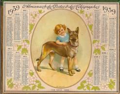 """Calendrier/Almanach P Et T/Chemins De Fer/""""Les Deux Amis"""" /Département De L´Eure/1939     CAL85 - Calendriers"""