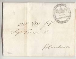 DB828-LAZIO STATO CHIESA 1832 Lettera Contenuto DaVITORCHIANO-timbro GOVERNO Di VITORCHIANO - 1. ...-1850 Prefilatelia
