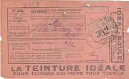 Recepisse  N° 516 D´un Objet Recommandé   1941 - Postmark Collection (Covers)