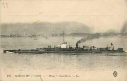 : Réf : L-12-1095 :  Marine De Guerre Le Sous-marin Monge - Sottomarini