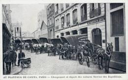 AU PLANTEUR DE CAÏFFA PARIS CHARGEMENT ET DEPART DES VOITURES SERVICE DES EXPEDITIONS ATTELAGE METIER LIVREUR 75006 - Arrondissement: 06