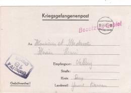 Lettre  Kriegsgefangenenpost    STALAG  IV  A   1942 - Guerre 1939-45