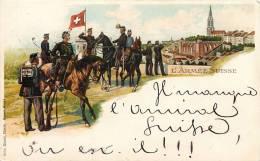 BELLE CPA 1899 : L'ARMEE SUISSE CAVALIER SOLDAT MILITAIRE GRUSS - Guerre 1914-18