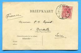 Nederland Briefkaart 1914 GEMERT  Stempel .Destination NOIRETABLE Loire - Postal Stationery