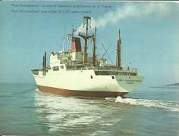 """Cie  Gale Transatlantique 1974; Format 12x16cm """"Fort Ponchartrain"""" L´un Des 12 Bananiers-polythermes De La Transat - Advertising"""