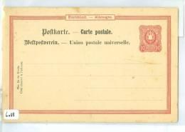 POSTKARTE 10 PFENNIG ONGEBRUIKT DEUTSCHE-REICHS-POST  (6088) - Duitsland
