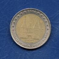 2  EURO - ALLEMAGNE -  Commemorative   LUDWIGSKIRCHE DE SARREBRUCK -  J  -  2006. - Alemania