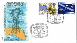 0478. Carta MAO (Menorca) 1992, 100 Años De Luz En Mahon - 1931-Hoy: 2ª República - ... Juan Carlos I
