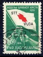 TRIESTE ZONE B 1951 Red Cross Tax Due Stamp Used.  Michel ZZMP 3 Cat. €280 - 7. Trieste