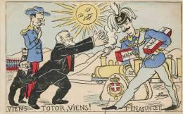 """"""" VIENS TOTOR, VIENS T'EN AS UN OEIL """" ILLUSTRATEUR ALBANO SATIRIQUE CARICATURE POLITIQUE 1900 - Satirical"""